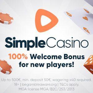 simple casino bonus