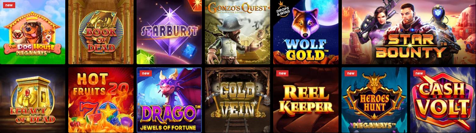 n1 casino spellen selectie